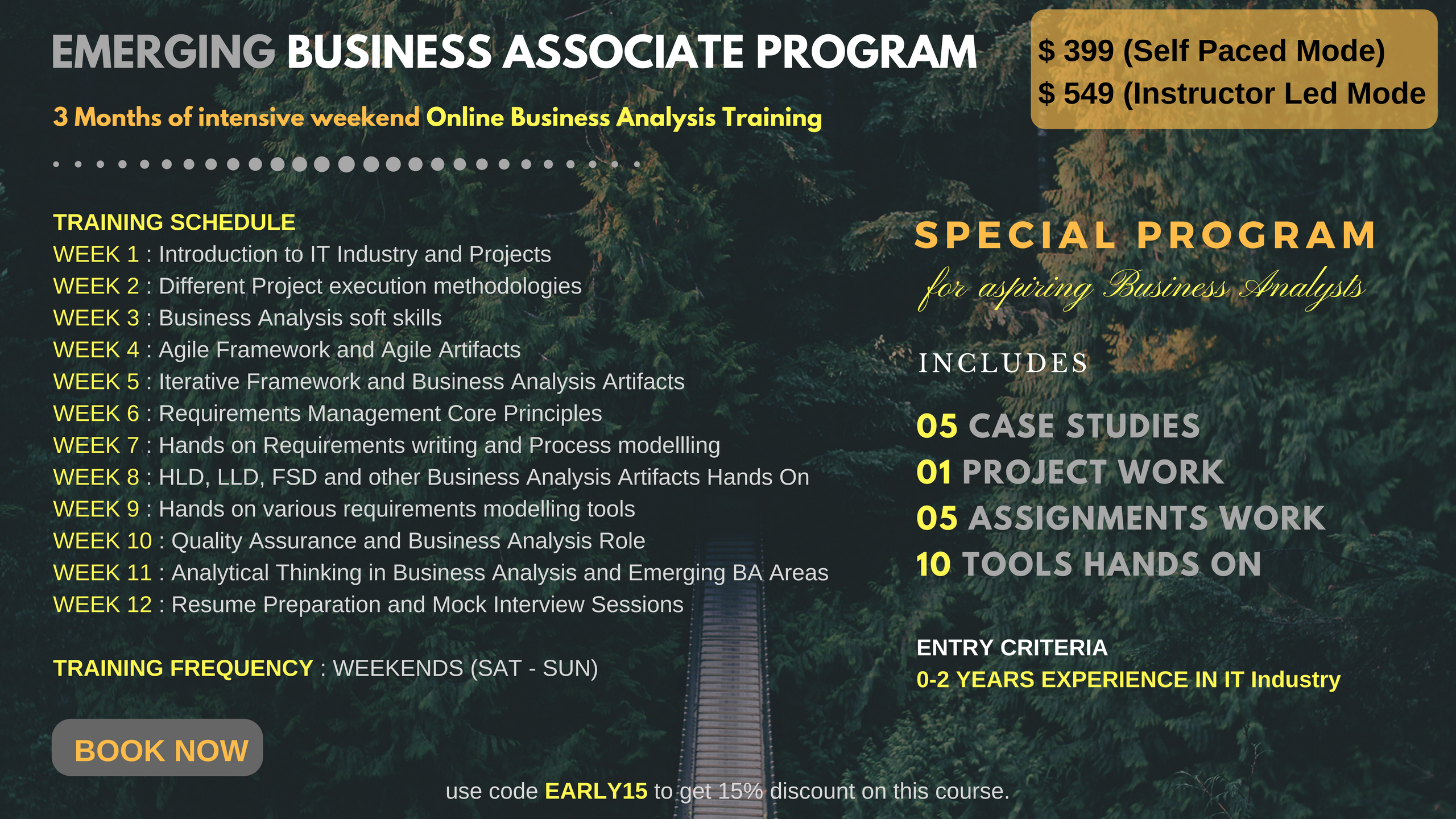 Online Instructor Led Business Analysis Training (US Only) -